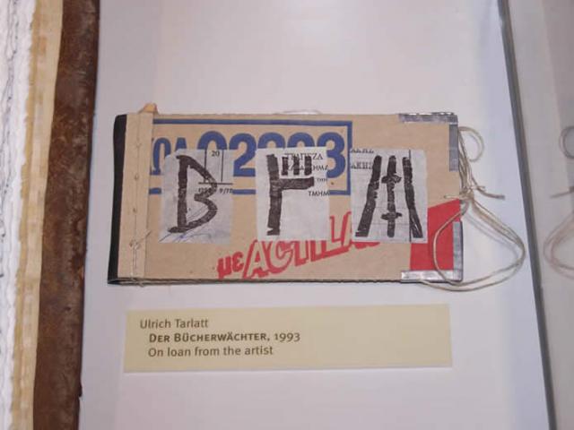 Ulrich Tarlatt  Der Bücherwächter, 1993  On loan from the artist