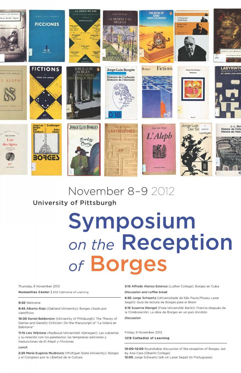 poster for Borges symposium, 8-9 November 2012