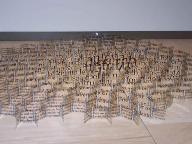 Heather Weston  Book of Babel, 2001  On loan from the artist