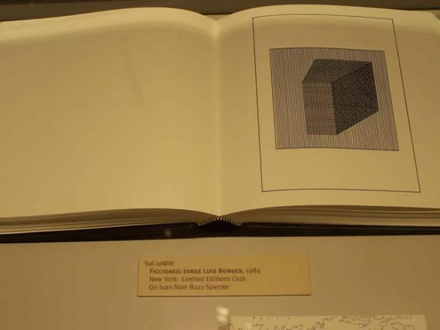 Sol LeWitt  Ficciones: Jorge Luis Borges, 1984  New York: Limited Editions Club  On loan from Buzz Spector