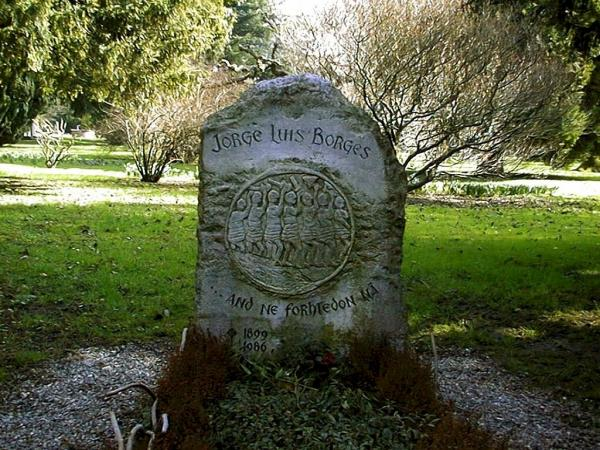 Borges's grave at Geneva
