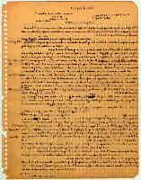 """Manuscript of """"Kafka y sus 'precursores'"""